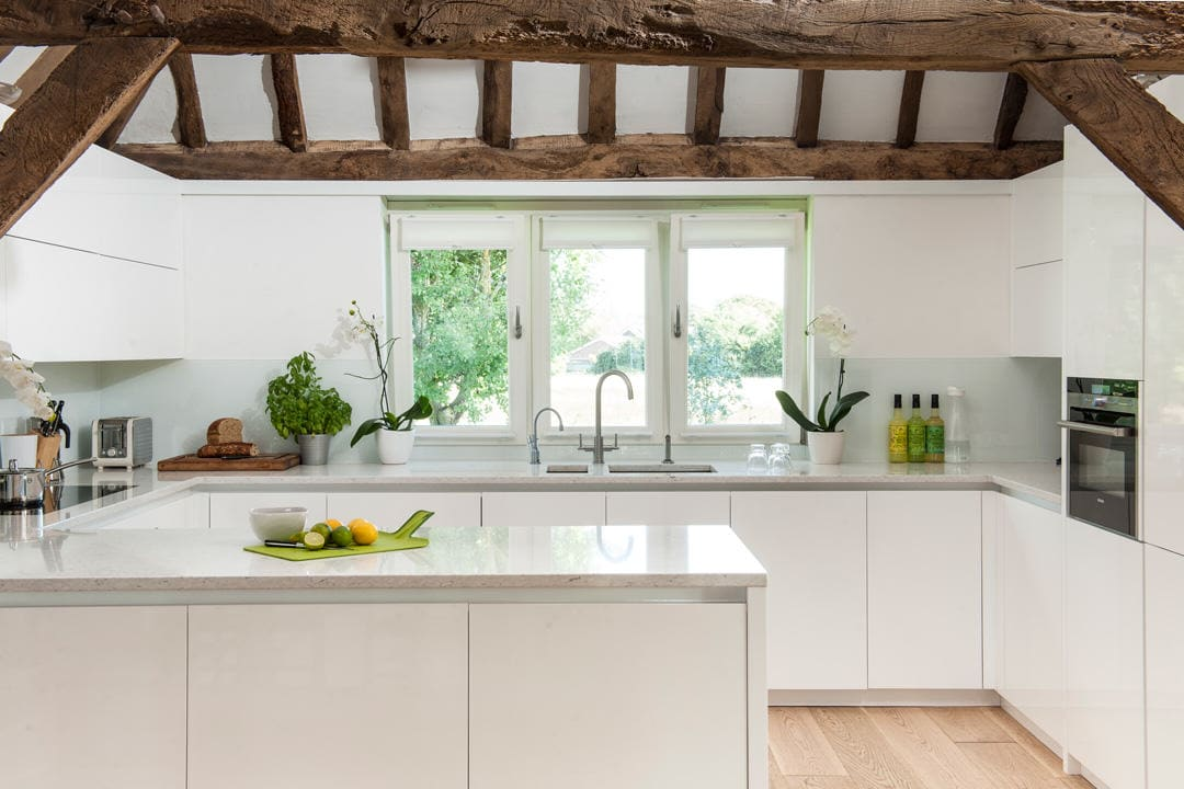 Minimalist Barn Conversion Kitchen